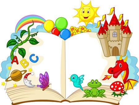 Ilustración de Fantasy book cartoon  - Imagen libre de derechos