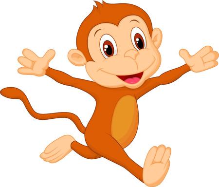Illustration for Happy monkey cartoon  - Royalty Free Image