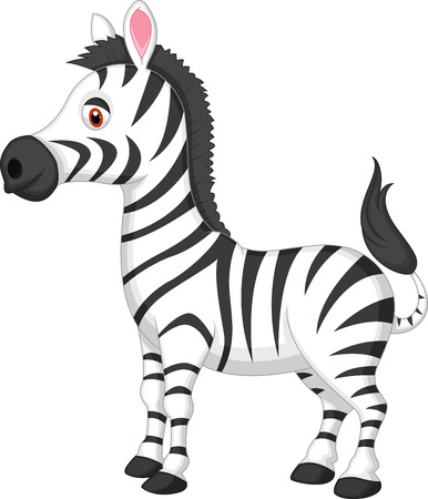 Illustration pour Cute zebra cartoon  - image libre de droit