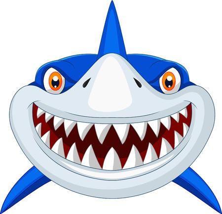 Ilustración de Shark head cartoon  - Imagen libre de derechos