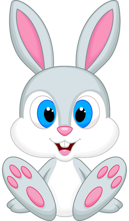 Cute baby rabbit cartoon