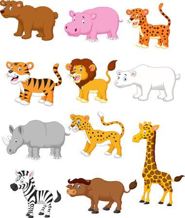 Illustration for Wild animal cartoon  - Royalty Free Image
