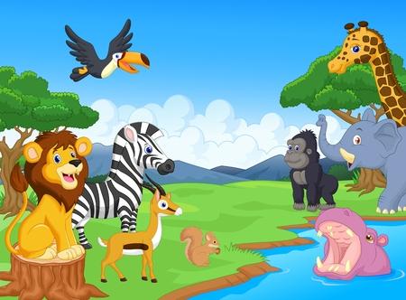 Photo pour Wild Animal cartoon - image libre de droit