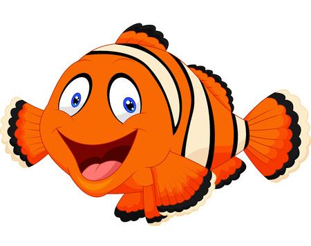 Ilustración de Cute clown fish cartoon - Imagen libre de derechos