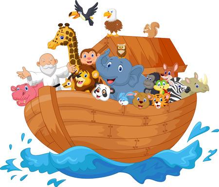Photo pour Noah ark cartoon - image libre de droit