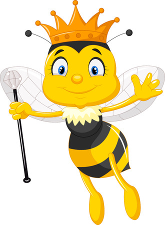 Illustration for Queen bee cartoon - Royalty Free Image