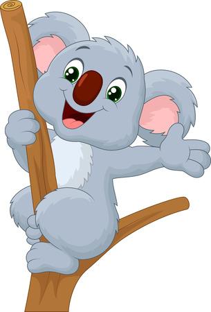 Illustration for Cute koala waving hand - Royalty Free Image