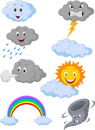 Illustration pour Weather symbol cartoon - image libre de droit