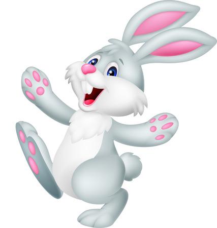 Photo pour Happy rabbit cartoon - image libre de droit