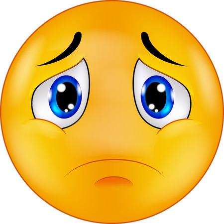 Sad smiley emoticon cartoon