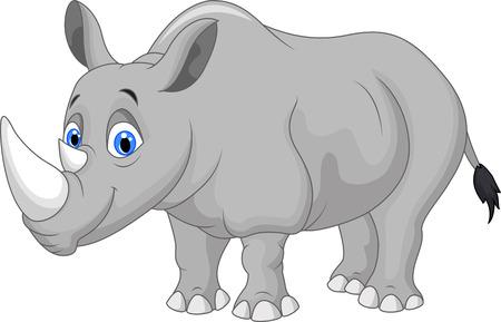 Illustration for Cartoon rhino - Royalty Free Image