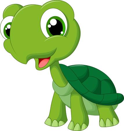 Ilustración de Cute cartoon turtle - Imagen libre de derechos