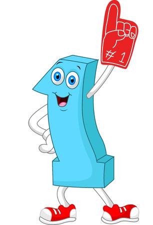 Ilustración de Cartoon number one mascot - Imagen libre de derechos