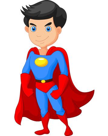 Ilustración de Cartoon Super hero boy posing - Imagen libre de derechos