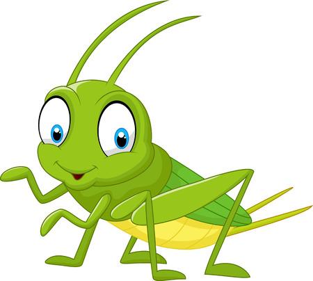Foto de Cartoon funny cricket - Imagen libre de derechos