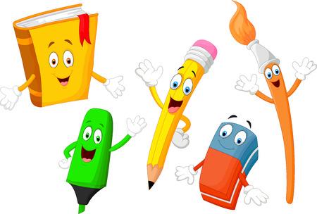Illustration pour Cute cartoon stationery child - image libre de droit