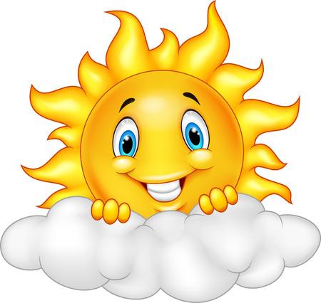 Ilustración de Smiling Sun Cartoon Mascot Character - Imagen libre de derechos