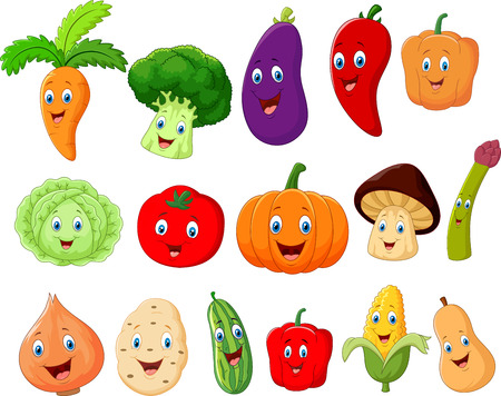 Illustration for Cute vegetable cartoon character - Royalty Free Image