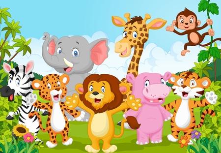 Photo pour Cartoon happy little animal - image libre de droit