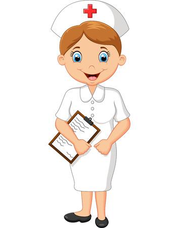 Illustration pour nurse cartoon - image libre de droit