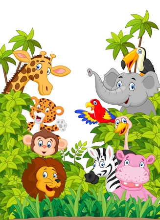 Foto de Cartoon collection animal of zoo - Imagen libre de derechos