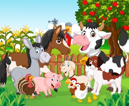 Photo pour Cartoon cute animal - image libre de droit