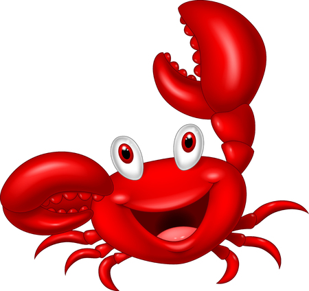 Photo pour Cute crab cartoon - image libre de droit