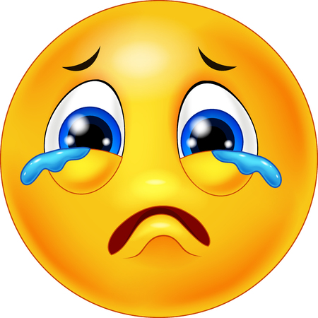 Illustration pour Crying emoticon cartoon - image libre de droit