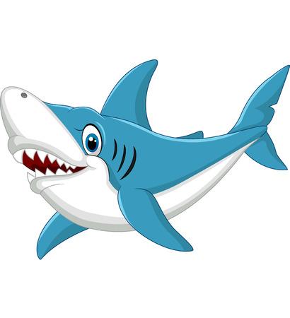 Ilustración de Shark cartoon illustration - Imagen libre de derechos