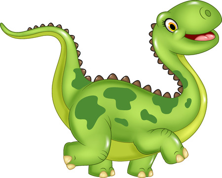 Photo pour Vector illustration of funny cartoon dinosaur. Isolated on white background - image libre de droit