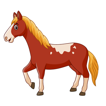 Illustration pour Vector illustration of Beautiful horse posing isolated on white background - image libre de droit