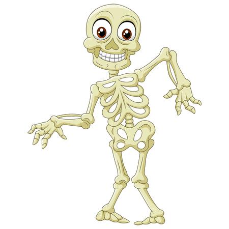 Illustration pour Vector illustration of  Halloween skeleton - image libre de droit