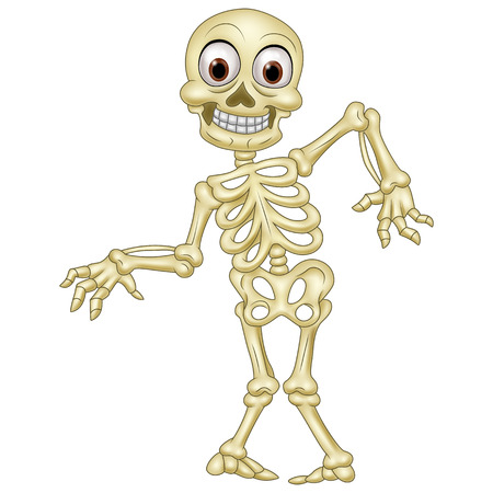 Illustration pour illustration of Halloween skeleton - image libre de droit