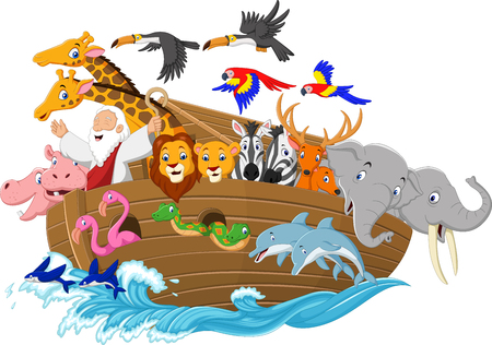 Illustration pour Vector illustration of Cartoon Noah's ark - image libre de droit