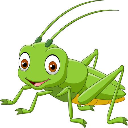 Photo pour Cartoon grasshopper - image libre de droit