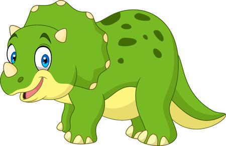 Ilustración de Cartoon triceratops - Imagen libre de derechos