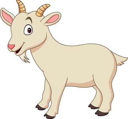 Ilustración de Cartoon funny goat isolated on white background - Imagen libre de derechos