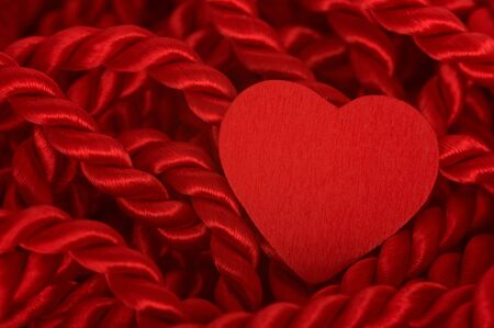 Heart with red rope