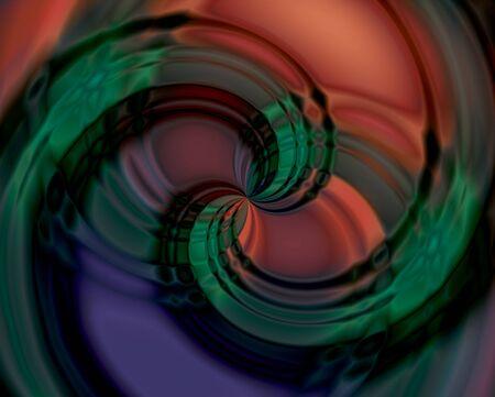 Ilustración de Abstract color swirl icon. - Imagen libre de derechos