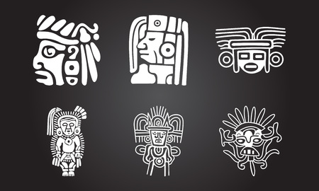 Illustration for American indians ethnic symbols - Royalty Free Image