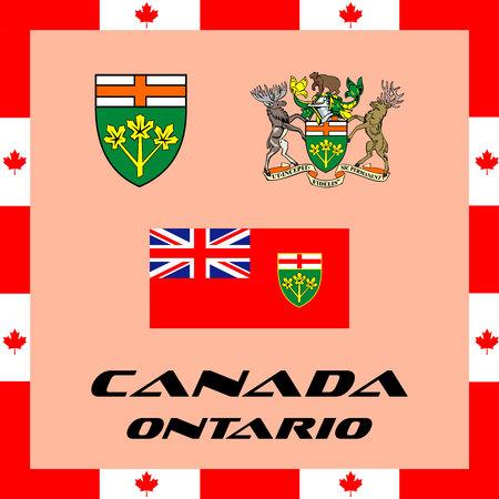 Illustration pour Official government elements of Canada - Ontario - image libre de droit