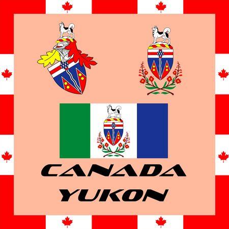 Illustration pour Official government elements of Canada - Yukon - image libre de droit
