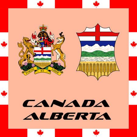 Illustration pour Official government elements of Canada - Alberta - image libre de droit
