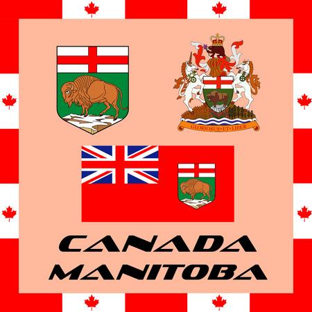 Illustration pour Official government elements of Canada - Manitoba - image libre de droit