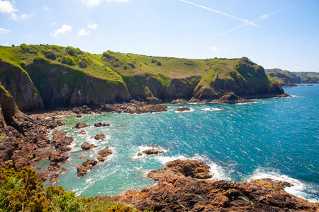 Photo for Cliffs of the Island of Jersey in the English Channel - Royalty Free Image