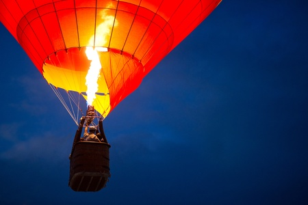 Photo for Air balloon in the evening sky - Royalty Free Image