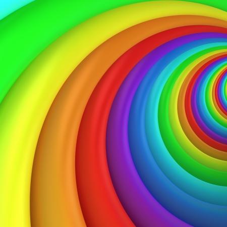 Photo pour Multicolored twisted background, 3d computer graphic - image libre de droit