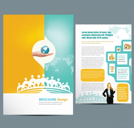 Illustration for Busines Template Layout - Royalty Free Image