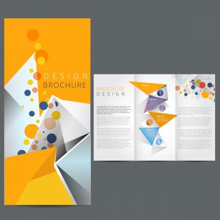 Ilustración de Yellow Business brochure - Imagen libre de derechos