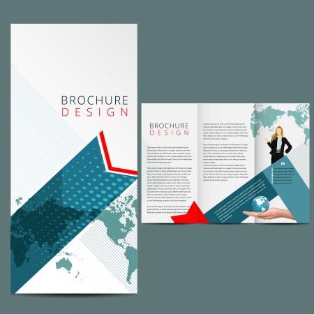 Illustration pour Blue Business Brochure Layout - image libre de droit